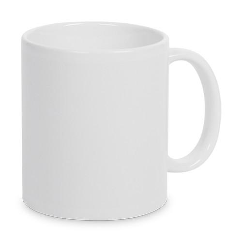 Unbedruckte weisse Tasse