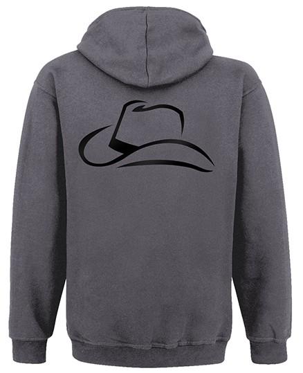 Cowboyhut - Kapuzenjacke hinten (Charcoal/Jet Black)
