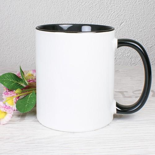 Tasse, schwarz ohne druck