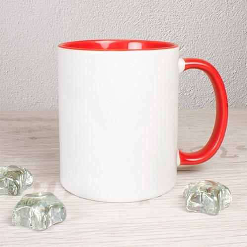 Tasse, rot, ohne Druck